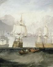 The Victory Returning from Trafalgar, 1806 (oil on canvas) wall mural thumbnail
