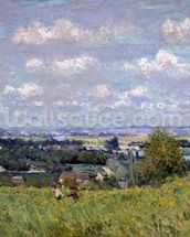 The Valley of the Seine at Saint-Cloud, 1875 (oil on canvas) wall mural thumbnail