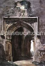 East Bergholt Church: South Archway of the Ruined Tower, 1806 (w/c on paper) mural wallpaper thumbnail
