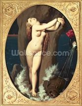 Angelica in Chains, 1859 (oil on canvas) wallpaper mural thumbnail