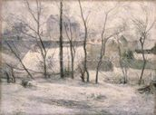 Winter Landscape, 1879 (oil on canvas) wall mural thumbnail