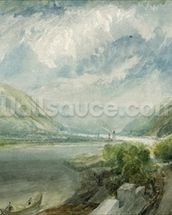 Junction of the Lahn, 1817 (gouache and w/c) wall mural thumbnail