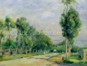 The Road to Versailles at Louveciennes (oil on canvas) wall mural thumbnail