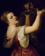 Salome Carrying the Head of St. John the Baptist, c.1549 (oil on canvas) wallpaper mural thumbnail