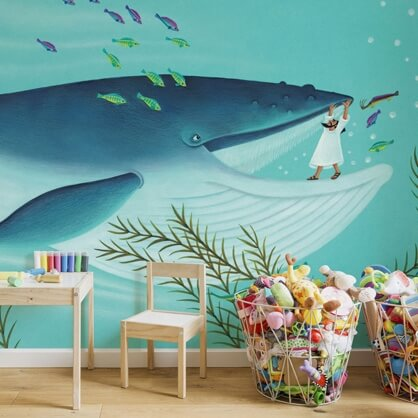 whale mural by Amanda Hall