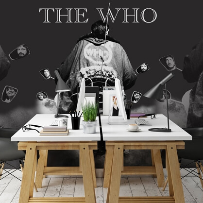 the who wallpaper in office