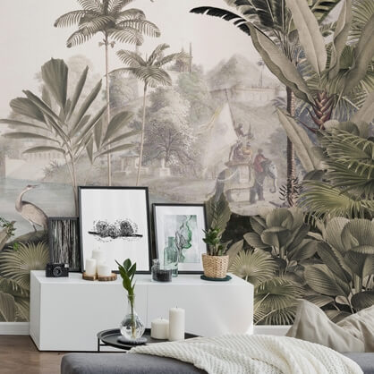 antique jungle wallpaper by Sir Edward