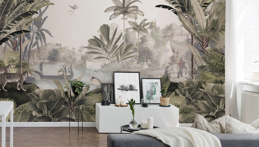 jungle wall mural by Sir Edward