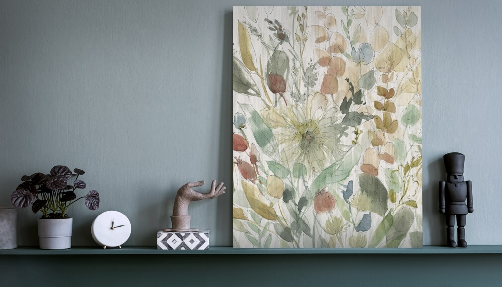 floral wallpaper by Carol Robinson