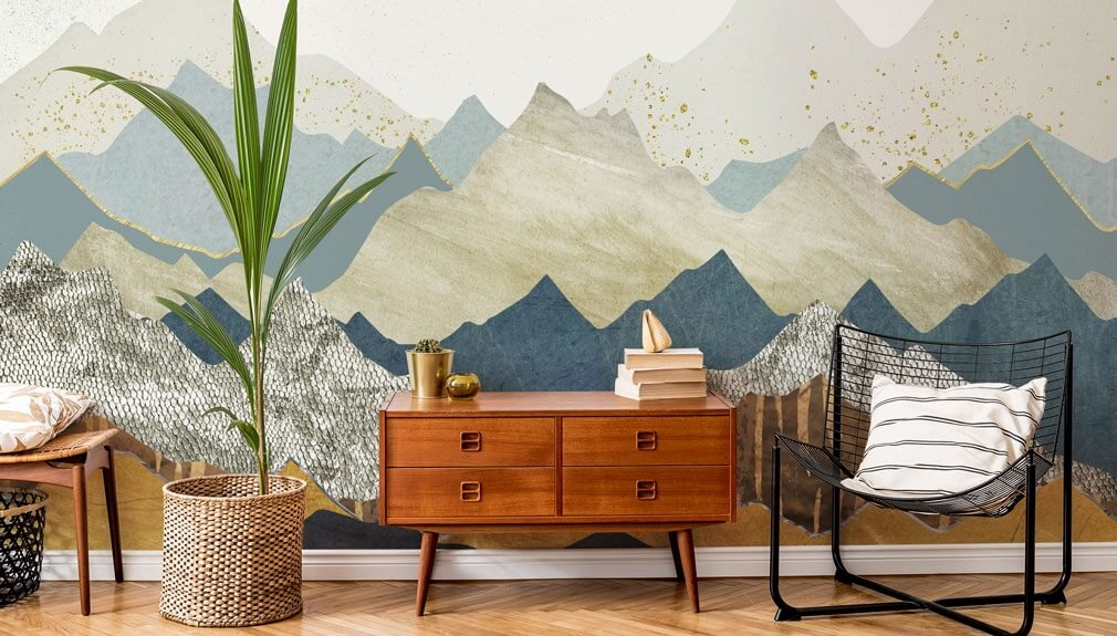 mountain wallpaper by SpaceFrog in living room